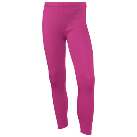 SmartWool NTS Midweight Base Layer Bottoms - Merino Wool (For Kids) in Peony
