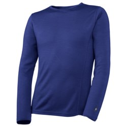 SmartWool NTS Midweight Base Layer Top - Merino Wool, Crew Neck, Long Sleeve (For Kids) in Royal