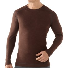 SmartWool NTS Midweight Base Layer Top - Merino Wool, Crew Neck, Long Sleeve (For Men) in Espresso Heather - Closeouts