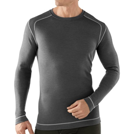 SmartWool NTS Midweight Base Layer Top - Merino Wool, Crew Neck, Long Sleeve (For Men) in Graphite