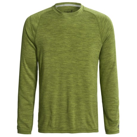 SmartWool NTS Midweight Base Layer Top - Merino Wool, Crew Neck, Long Sleeve (For Men) in Pesto Heather