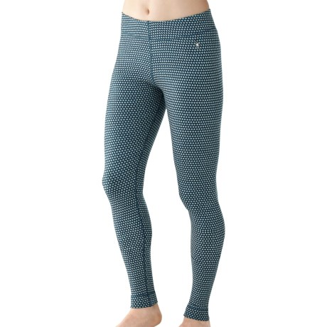 SmartWool NTS Midweight Pattern Base Layer Bottoms - Merino Wool (For Women) in Clearwater
