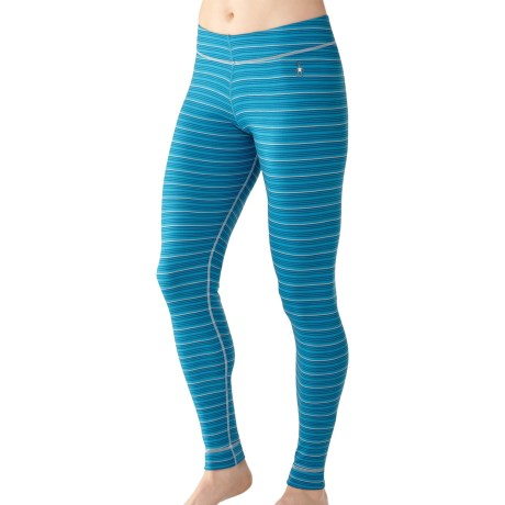 SmartWool NTS Midweight Pattern Base Layer Bottoms - Merino Wool (For Women) in Horizon Blue