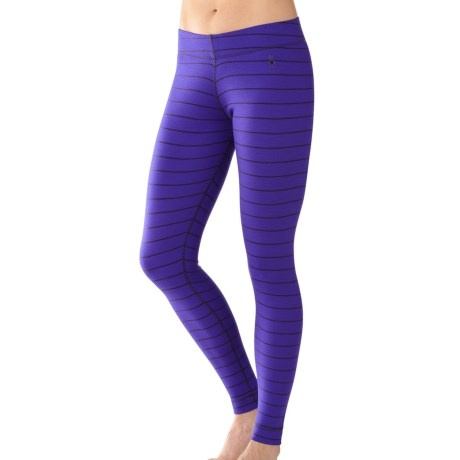 SmartWool NTS Midweight Pattern Base Layer Bottoms - Merino Wool (For Women) in Liberty