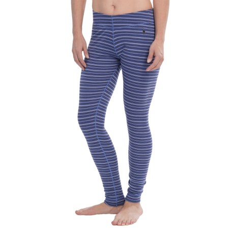 SmartWool NTS Midweight Pattern Base Layer Bottoms - Merino Wool (For Women) in Polar Purple Stripe