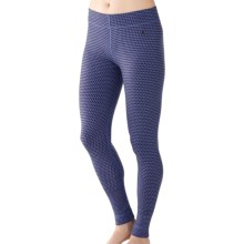 SmartWool NTS Midweight Pattern Base Layer Bottoms - Merino Wool (For Women) in Polar Purple - Closeouts