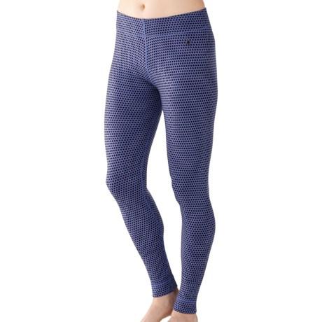 SmartWool NTS Midweight Pattern Base Layer Bottoms - Merino Wool (For Women) in Polar Purple