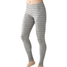 SmartWool NTS Midweight Pattern Base Layer Bottoms - Merino Wool (For Women) in Silver/Charcoal - Closeouts