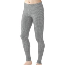 SmartWool NTS Midweight Pattern Base Layer Bottoms - Merino Wool (For Women) in Silver Grey Heather Dots - Closeouts