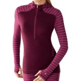 SmartWool NTS Midweight Pattern Base Layer Hoodie Shirt - Merino Wool, Zip Neck (For Women)