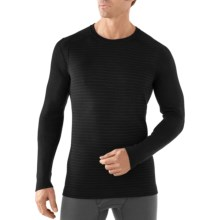 SmartWool NTS Midweight Pattern Base Layer Top - Merino Wool, Crew Neck, Long Sleeve (For Men) in Black - Closeouts