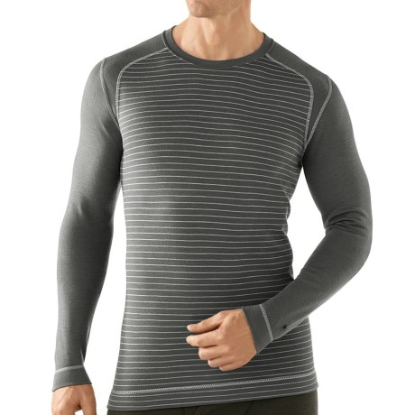 SmartWool NTS Midweight Pattern Base Layer Top - Merino Wool, Crew Neck, Long Sleeve (For Men) in Graphite