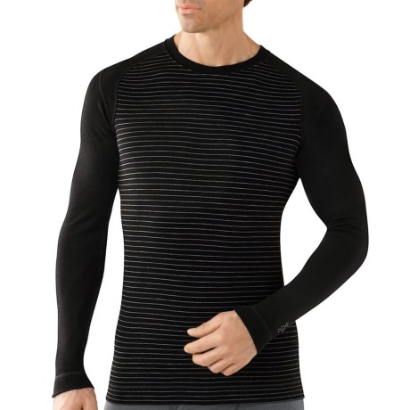 SmartWool NTS Midweight Pattern Base Layer Top - Merino Wool, Crew Neck, Long Sleeve (For Men) in Taupe Heather