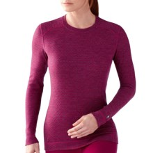 SmartWool NTS Midweight Pattern Base Layer Top - Merino Wool, Crew Neck, Long Sleeve (For Women) in Berry Heather - Closeouts