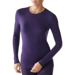 SmartWool NTS Midweight Pattern Base Layer Top - Merino Wool, Crew Neck, Long Sleeve (For Women) in Silver Grey Heather