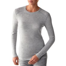 SmartWool NTS Midweight Pattern Base Layer Top - Merino Wool, Crew Neck, Long Sleeve (For Women) in Silver Grey Heather - Closeouts
