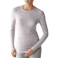 SmartWool NTS Midweight Pattern Base Layer Top - Merino Wool, Crew Neck, Long Sleeve (For Women) in Silver Grey - Closeouts