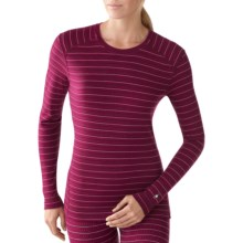 SmartWool NTS Midweight Pattern Base Layer Top - Merino Wool, Crew Neck, Long Sleeve (For Women) in Wine Heather - Closeouts