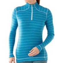 SmartWool NTS Midweight Pattern Base Layer Top - Merino Wool, Zip Neck, Long Sleeve (For Women) in Horizon Blue - Closeouts