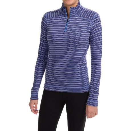 SmartWool NTS Midweight Pattern Base Layer Top - Merino Wool, Zip Neck, Long Sleeve (For Women) in Purple