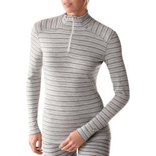 SmartWool NTS Midweight Pattern Base Layer Top - Merino Wool, Zip Neck, Long Sleeve (For Women) in Silver Grey Heather - Closeouts