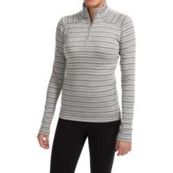 SmartWool NTS Midweight Pattern Base Layer Top - Merino Wool, Zip Neck, Long Sleeve (For Women) in Silver