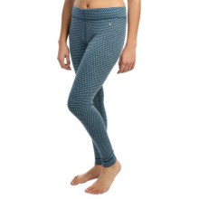 SmartWool NTS Pattern Base Layer Bottoms - Merino Wool, Midweight (For Women) in Clearwater - Closeouts
