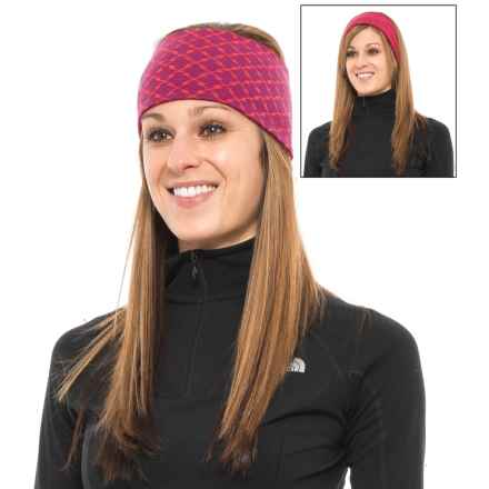 SmartWool NTS Pattern Headband - Merino Wool, Reversible (For Men and Women) in Berry Heather - Closeouts
