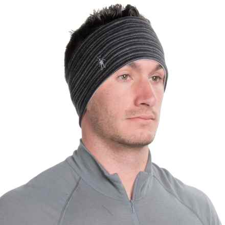 SmartWool NTS Pattern Headband - Merino Wool, Reversible (For Men and Women) in Charcoal Heather - Closeouts