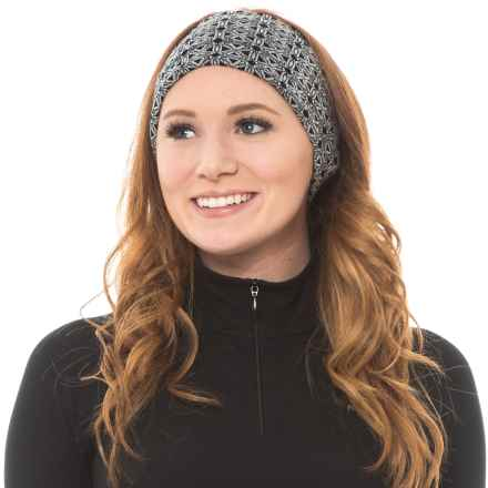 SmartWool NTS Pattern Headband - Merino Wool, Reversible (For Men and Women) in Dogwood White/Black - Closeouts
