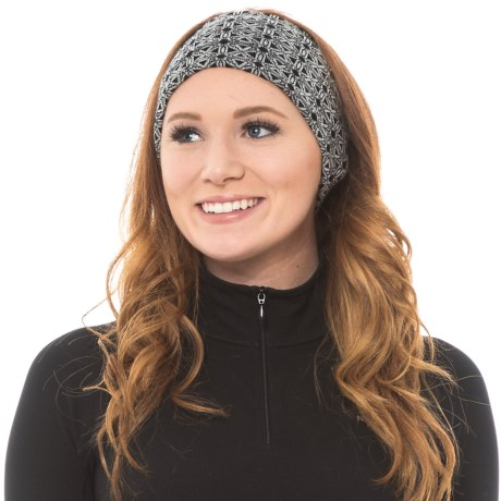 SmartWool NTS Pattern Headband - Merino Wool, Reversible (For Men and Women) in Dogwood White/Black