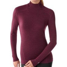 SmartWool NTS Turtleneck Base Layer Top - Merino Wool, Midweight, Long Sleeve (For Women) in Wine Heather - Closeouts