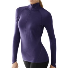 SmartWool NTS Zip Neck Base Layer Top - Merino Wool, Lightweight, Long Sleeve (For Women) in Imperial Purple - Closeouts