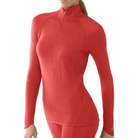 SmartWool NTS Zip Neck Base Layer Top - Merino Wool, Lightweight, Long Sleeve (For Women) in Sunrise