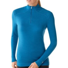 Smartwool NTS Zip Turtleneck Base Layer Top - Merino Wool, Midweight, Long Sleeve (For Women) in Arctic Heather - Closeouts