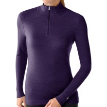 Smartwool NTS Zip Turtleneck Base Layer Top - Merino Wool, Midweight, Long Sleeve (For Women) in Imperial Purple Heather - Closeouts