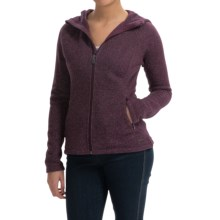 SmartWool Odessa Lake Hoodie - Wool-Fleece, Zip Front (For Women) in Aubergine Heather - Closeouts