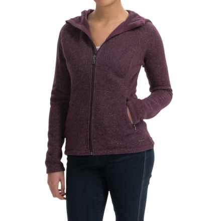 SmartWool Odessa Lake Hoodie - Wool-Fleece, Zip Front (For Women) in Aubergine Heather - Closeouts
