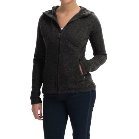 SmartWool Odessa Lake Hoodie - Wool-Fleece, Zip Front (For Women) in Charcoal Heather