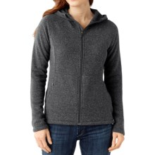 SmartWool Odessa Lake Hoodie - Wool-Fleece, Zip Front (For Women) in Medium Grey Heather - Closeouts