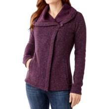 SmartWool Odessa Lake Wrap - Wool-Fleece (For Women) in Aubergine Heather - Closeouts