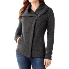 SmartWool Odessa Lake Wrap - Wool-Fleece (For Women) in Medium Grey Heather - Closeouts