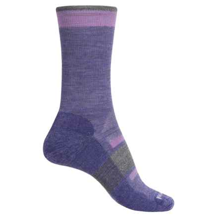 SmartWool Outdoor Advanced Light Socks - Merino Wool, Crew (For Women) in Lavender - 2nds