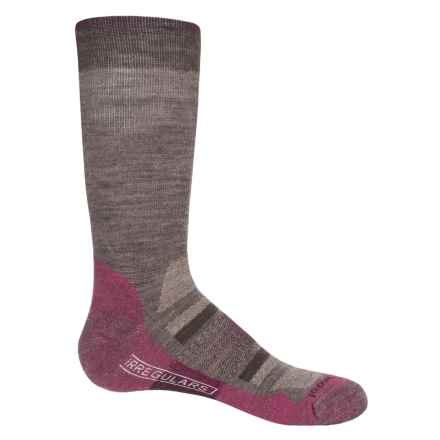 SmartWool Outdoor Advanced Light Socks - Merino Wool, Crew (For Women) in Taupe/Berry - 2nds