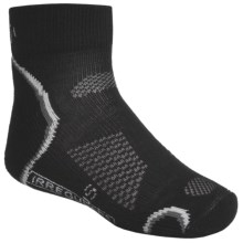 SmartWool Outdoor Socks - Merino Wool, Light Cushion, Quarter-Crew (For Kids and Youth) in Black - 2nds