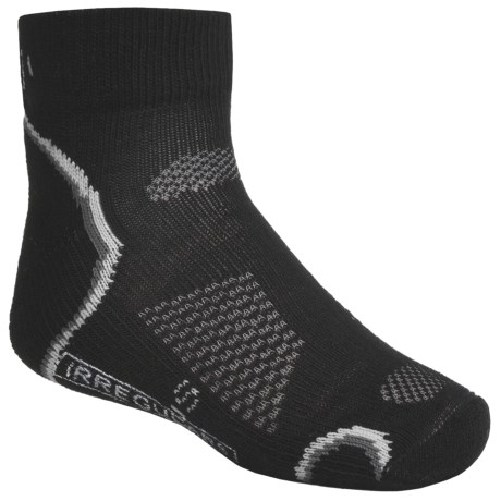 SmartWool Outdoor Socks - Merino Wool, Light Cushion, Quarter-Crew (For Kids and Youth) in Black