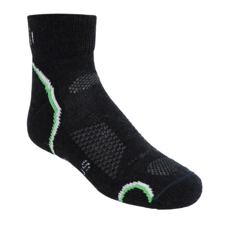 SmartWool Outdoor Socks - Merino Wool, Light Cushion, Quarter-Crew (For Kids and Youth) in Navy
