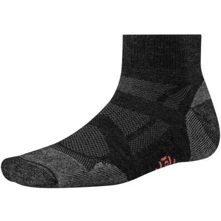 SmartWool Outdoor Sport Light Mini Socks - Merino Wool, Quarter-Crew (For Men and Women) in Charcoal - Closeouts