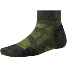 SmartWool Outdoor Sport Light Mini Socks - Merino Wool, Quarter-Crew (For Men and Women) in Loden - Closeouts