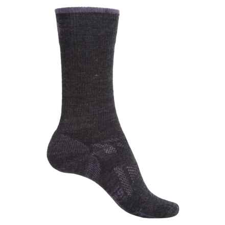 SmartWool Outdoor Sport Light Socks - Merino Wool, 3/4 Crew (For Women) in Charcoal/Desert Purple - Closeouts